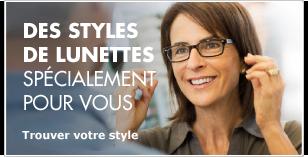 Des styles de lunettes juste pour vous – Trouvez votre style