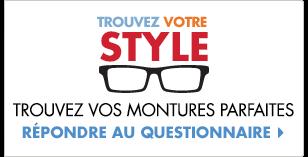 Questionnaire LensCrafters – Trouvez votre style