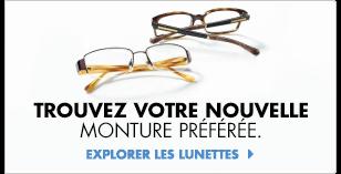 Explorez les lunettes.
