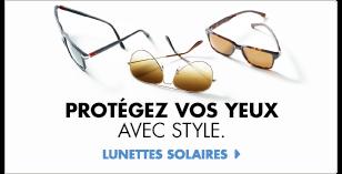 Explorez les lunettes solaires.